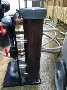 Powerflushing system in action