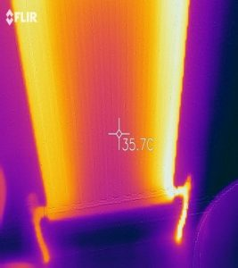 Radiators thermal imaging before