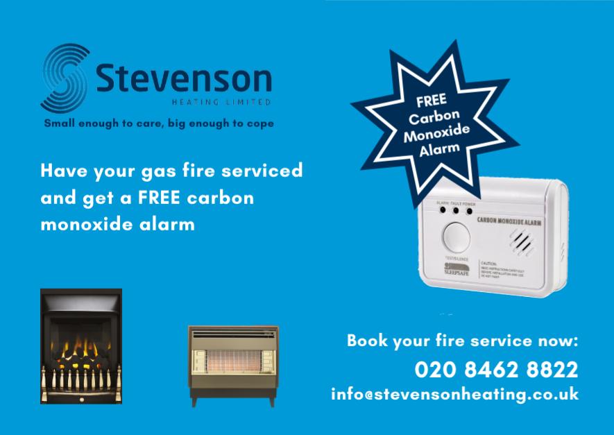 gas fire service free carbon monoxide alarm