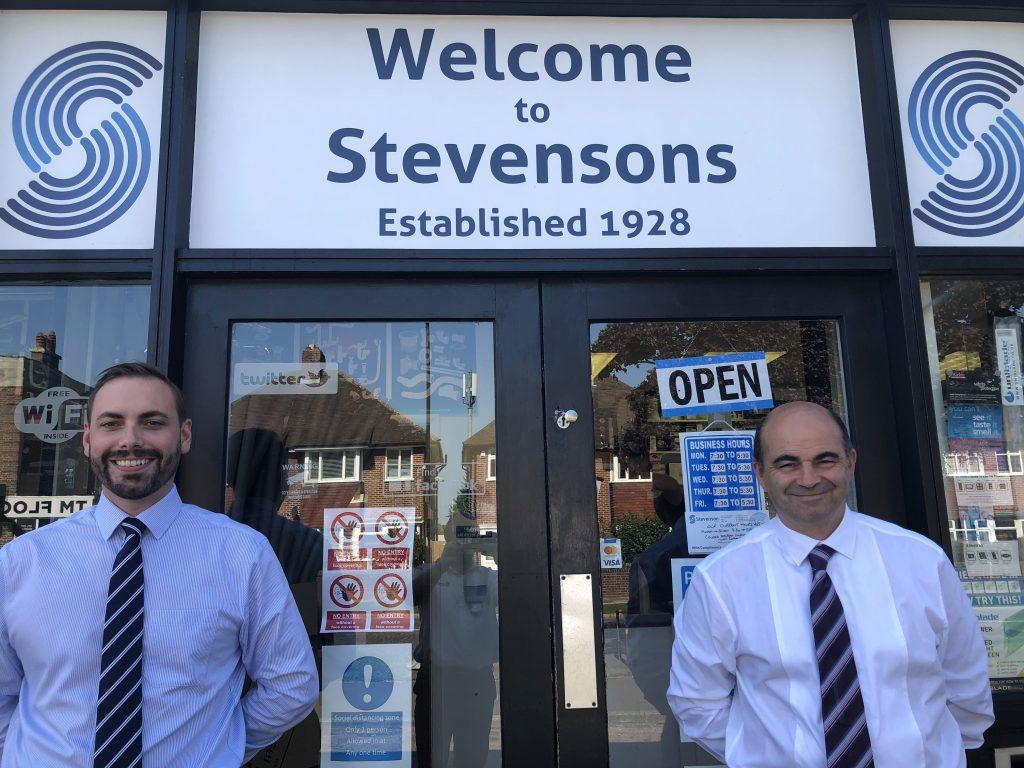 New Management Team - Stevenson Heating. George Tolley left, Neil Stevenson right