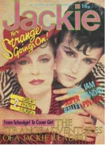 Jo Hunt on Jackie magazine front cover